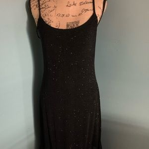 Onyx Night Cocktail Black Sparkling Dress Size 10